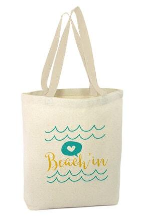 Angemiel Denizde Takılmaca Alışveriş Plaj Bez Çanta