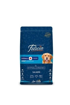 Felicia Az Tahıllı 3 kg Yetişkin Somonlu M/large Breed Hypoallergenic Köpek Maması