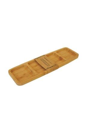Ceyka 33 Cm 4 Bölmeli Bambu Çerezlik Ve Kahvaltılık