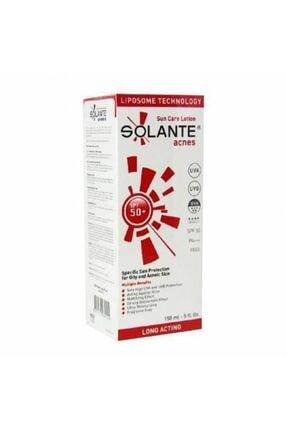 Solante Unisex Acnes Sun Care Lotion Spf 50  ve 150 ml Akne Önleyici Güneş Losyonu