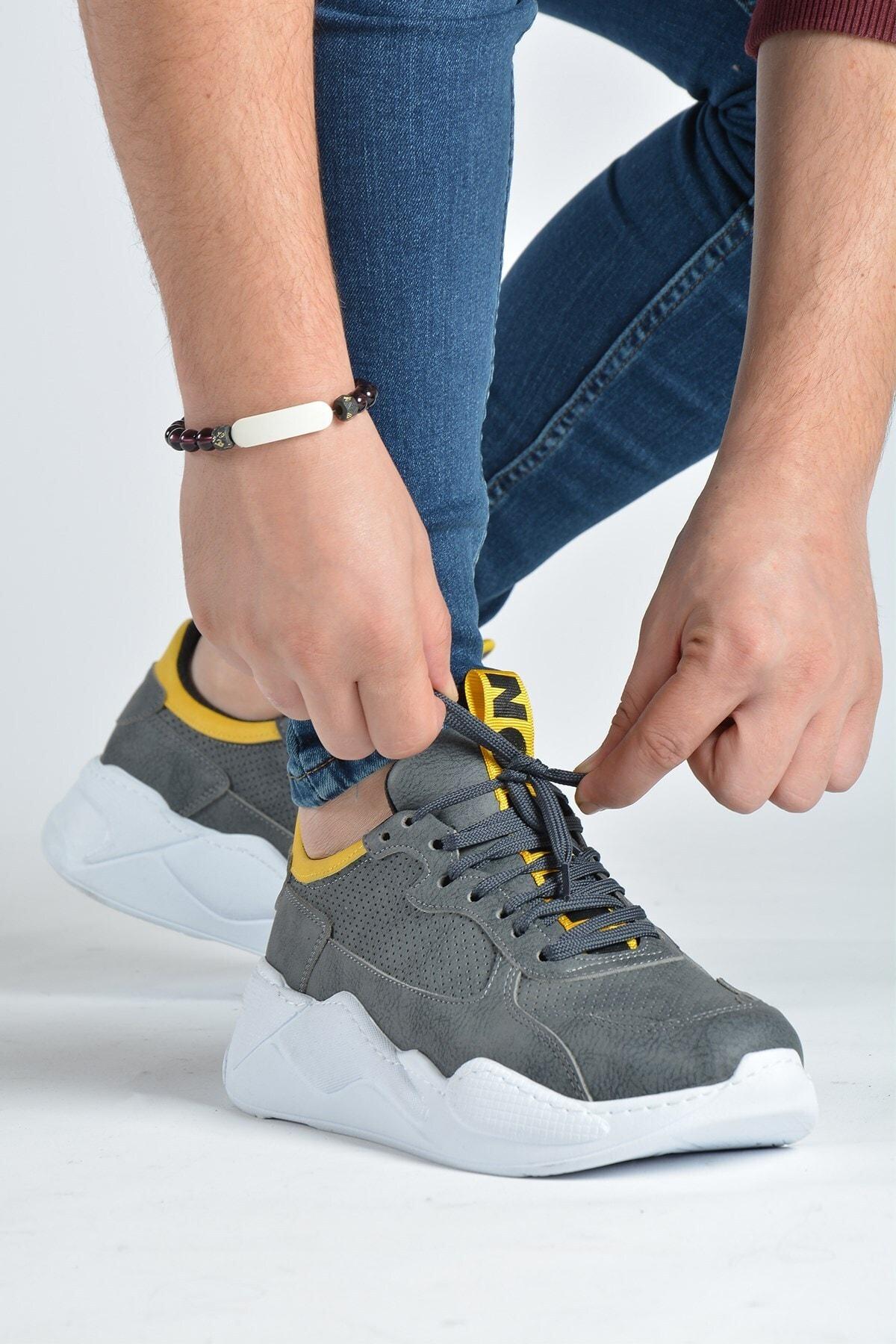 Terapi Men Erkek Antrasit Günlük Spor Ayakkabı 20k-1200270-2 1