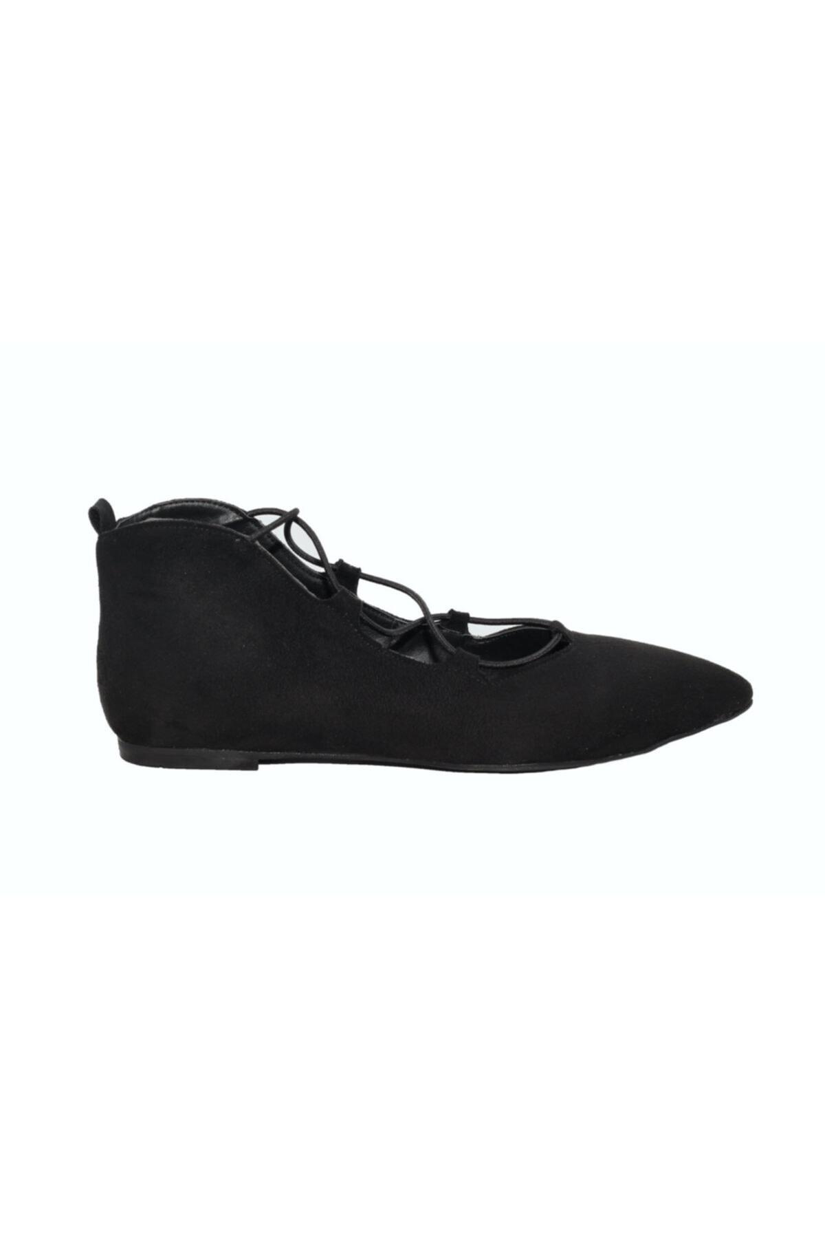 DİVUM Kadın Siyah Süet Ayakkabı 1