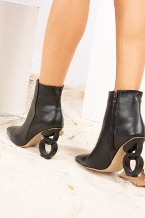 Fox Shoes Siyah Suni Deri Kadın Bot J820145309