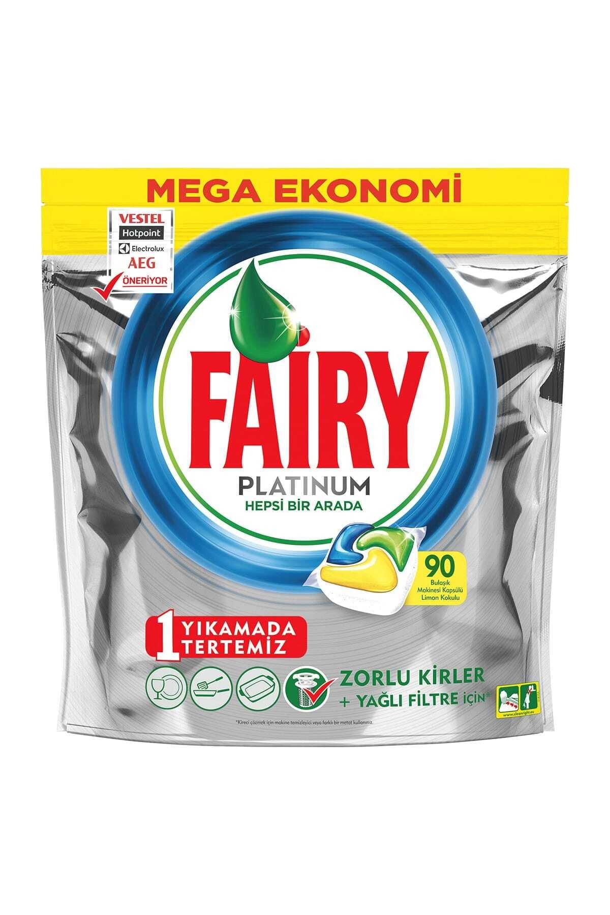 Fairy Platinum Limon Kokulu Bulaşık Makinesi Deterjanı Tablet 90 Yıkama 2