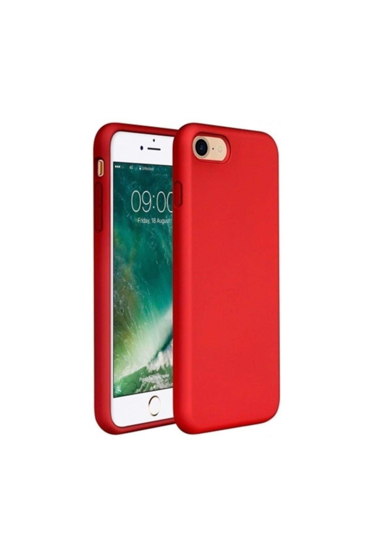 Zengin Çarşım Apple Iphone 7 - 8 Içi Kadife Lansman Silikon Kılıf Kırmızı 1