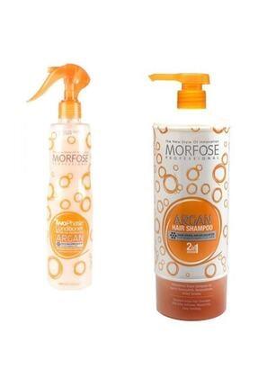 Morfose Argan Şampuanı 2in1 1000ml. + Argan Fön Suyu (ikili Bakım Seti)