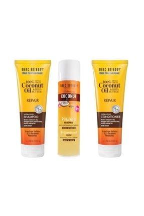 MARC ANTHONY Coconut Biotin Yıpranmış Saç Şampuanı 250 Ml+saç Kremi 250 Ml+saç Spreyi 300 Ml