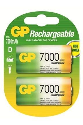 GP Batteries 7000mah Şarj Edilebilir (2li) Kalın Pil
