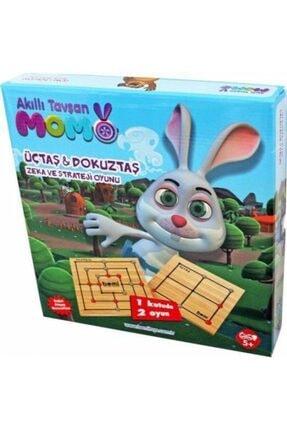BEMİ Trt Çocuk Akıllı Tavşan Momo Üçtaş & Dokuz Taş Zeka Ve Strateji Oyunu