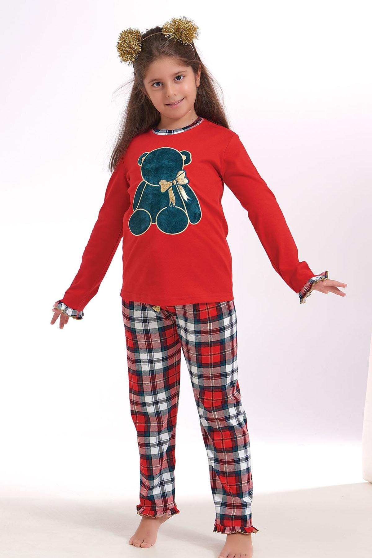 ZEYZEY Kız Çocuk Nakışlı Pijama Takım 1