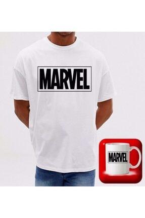 Dark Unisex Beyaz Marvel T-Shırt Ve Kupa Bardağı