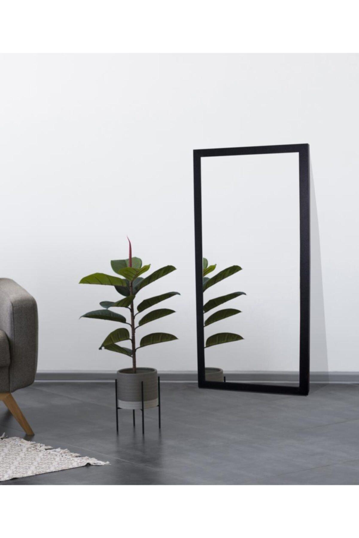 Chic Life Dekoratif Boy Aynası - Siyah Çerçeve 1