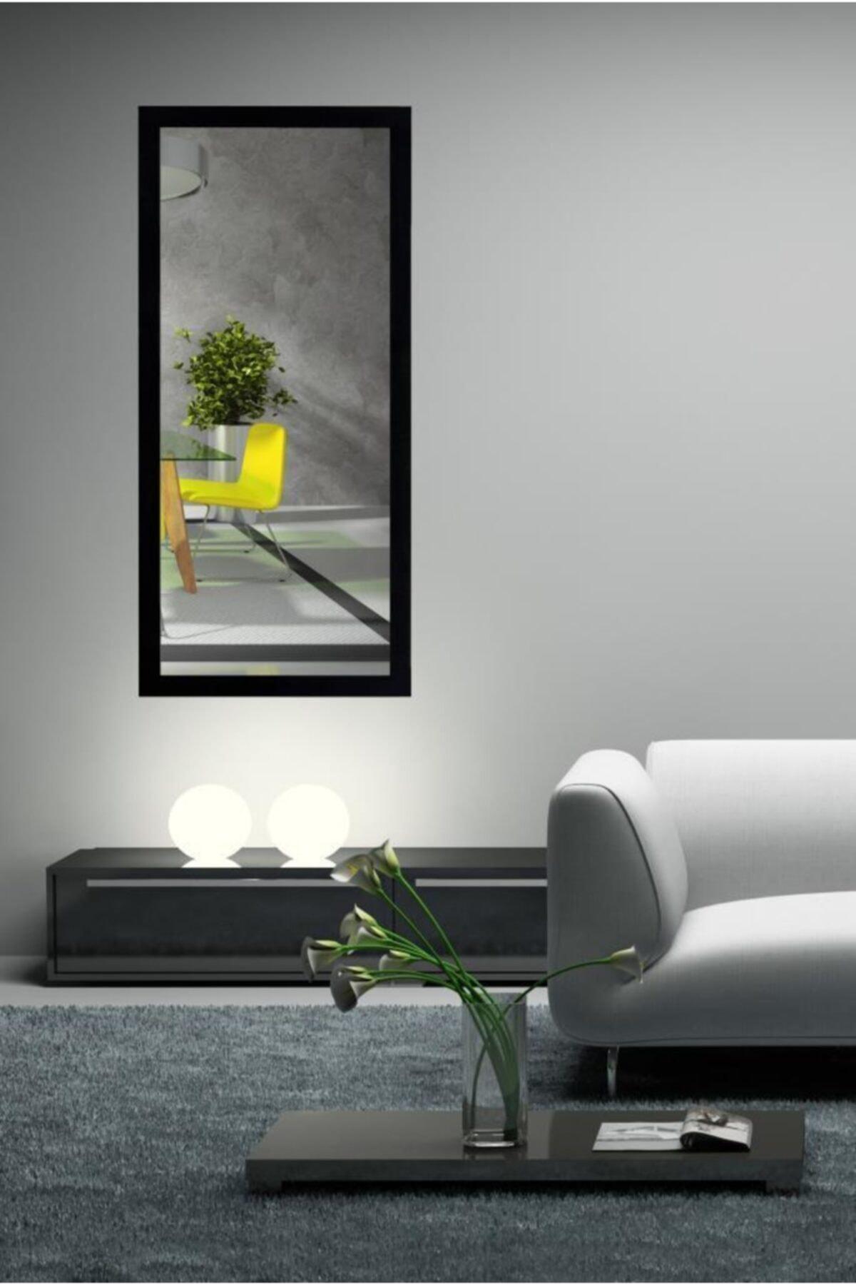 Chic Life Dekoratif Boy Aynası - Siyah Çerçeve 2