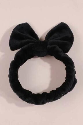 New Obsessions Siyah Peluş Spa Saç Bandı