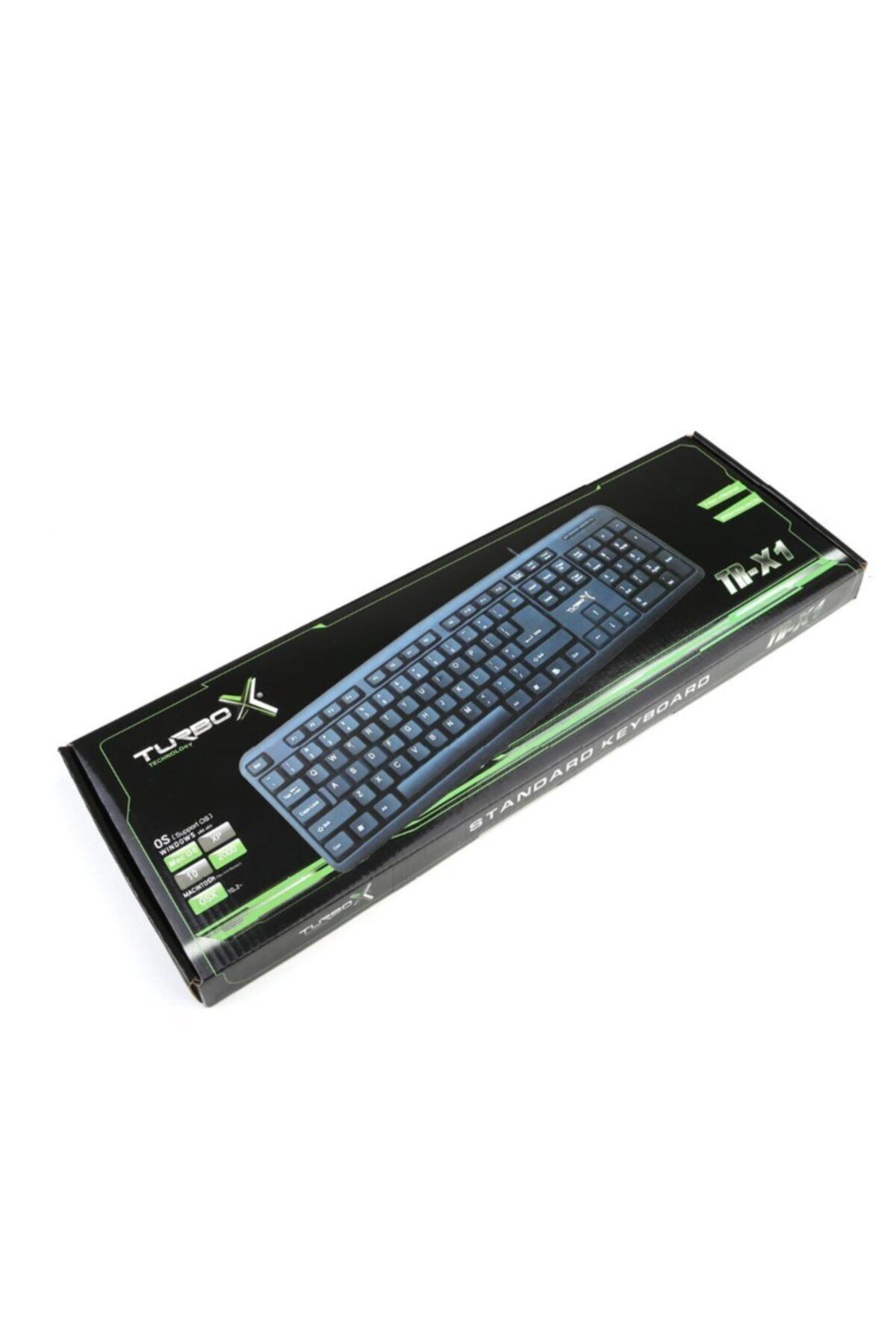 TURBOX Tr-x1 Kablolu Siyah Standart Usb Klavye 1
