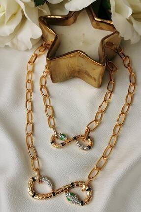 Toms Jewelry Zirkon Kolye Bileklik Set