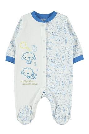 Kujju Unisex Bebek Mavi Patikli Tulum