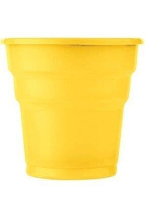 Roll-Up Plastik Bardak Sarı 25'li