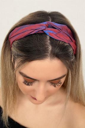 TAKIŞTIR Kadın Neon Bordo Renk Saç Bandı
