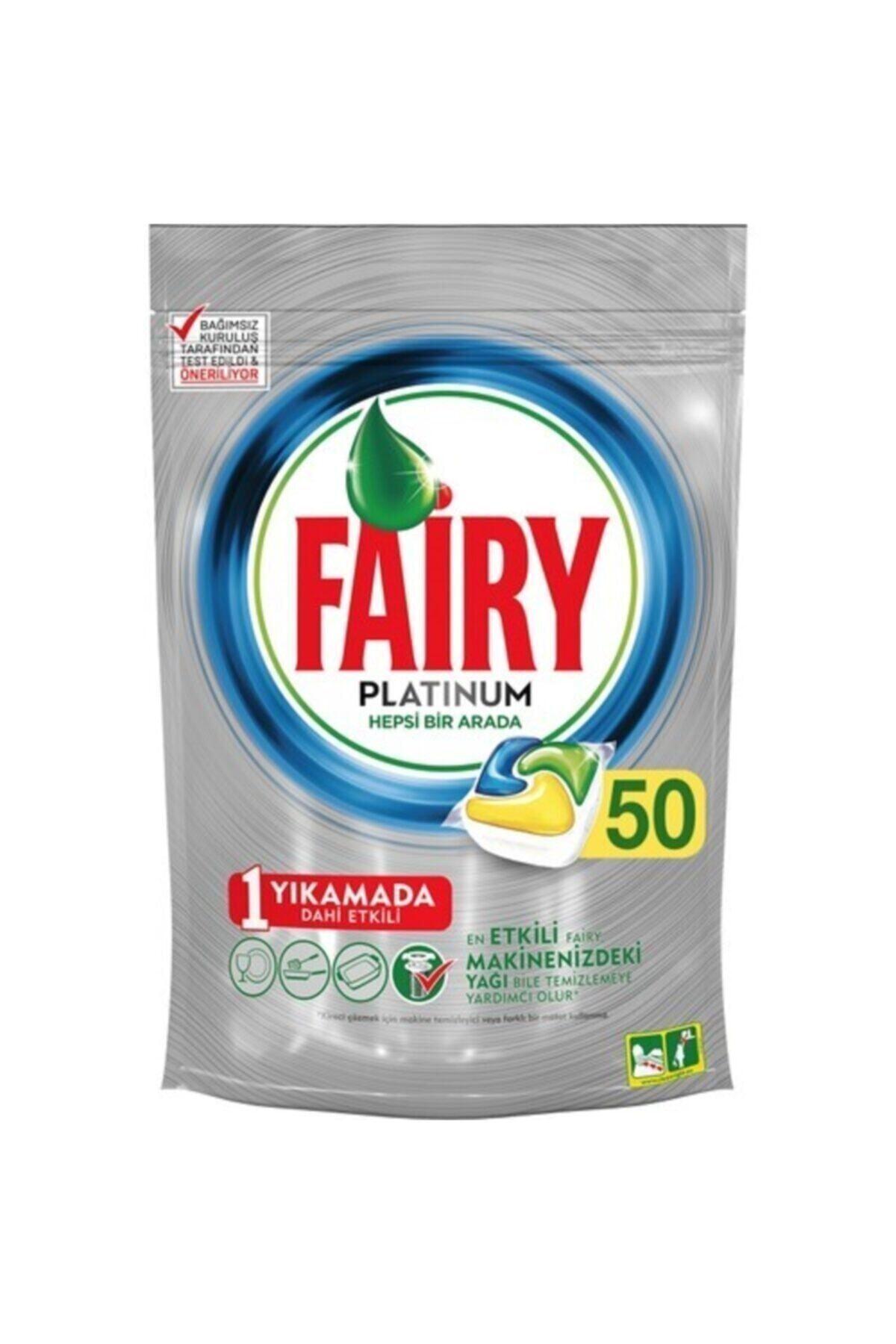 Fairy Platinum 50'li Yıkama Bulaşık Makinesi Deterjanı Tablet 1