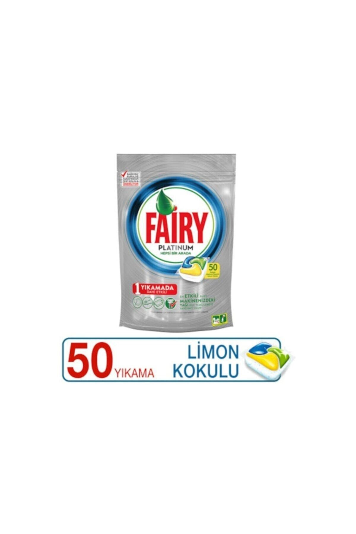 Fairy Platinum 50'li Yıkama Bulaşık Makinesi Deterjanı Tablet 2