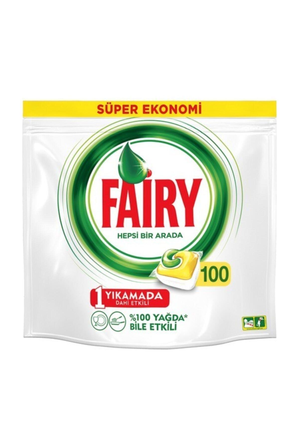 Fairy Hepsi Bir Arada Limon Kokulu Bulaşık Makinesi Deterjanı 100 Yıkama 1