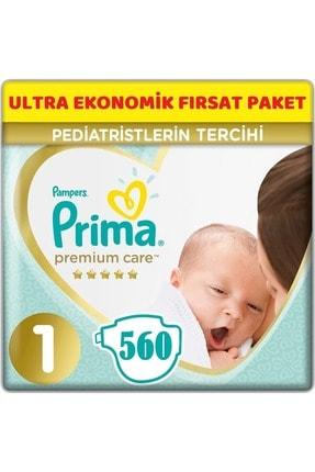 Prima Premium Care Bebek Bezi Beden:1 (2-5kg) Yeni Doğan 560 Adet Ultra Ekonomik Fırsat Pk