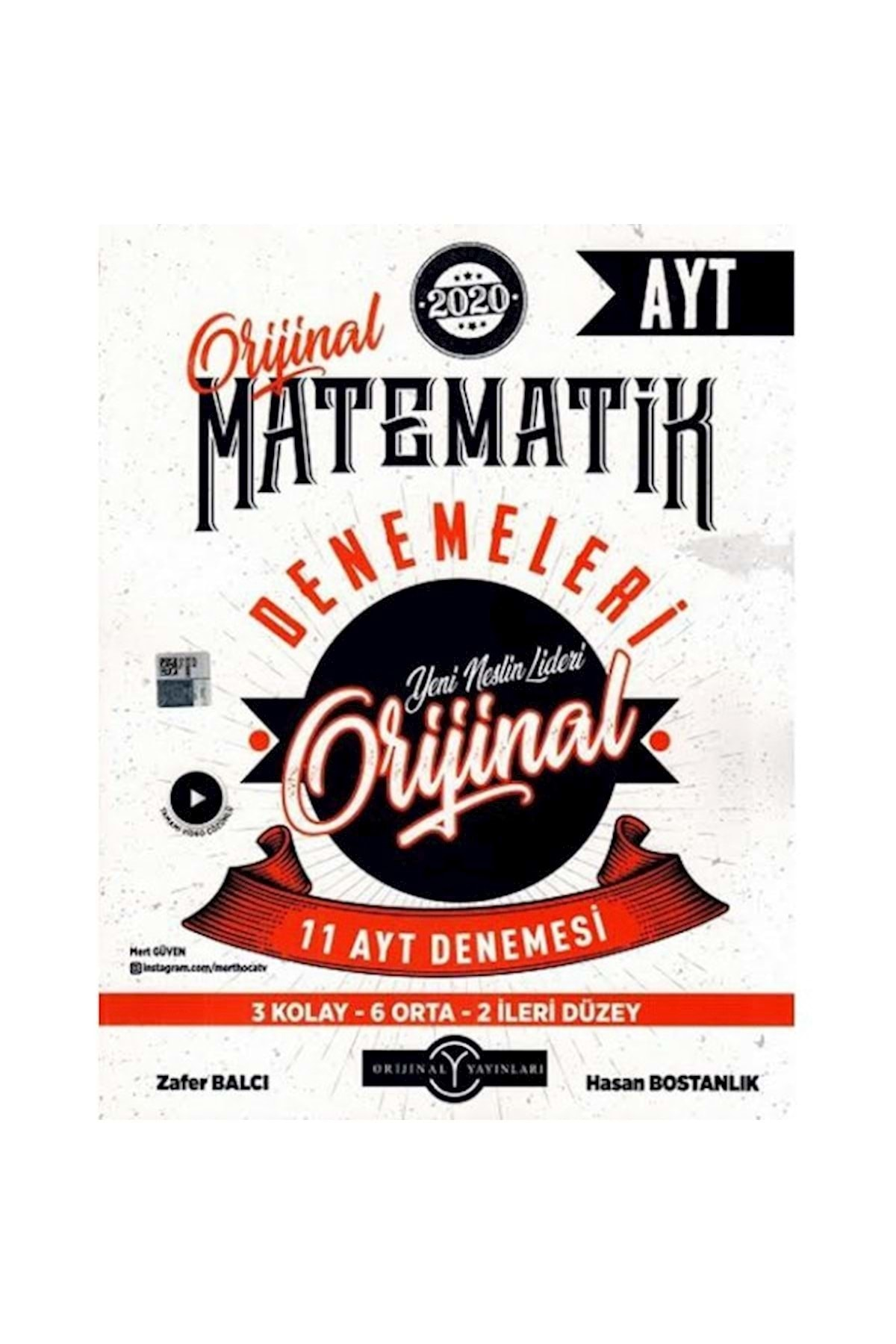 orjinal yayınları Orijinal Ayt Orijinal Matematik 11 Li Deneme 1