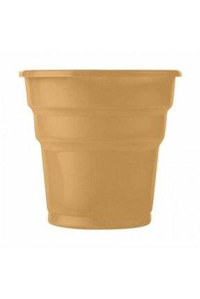 Roll-Up Altın Plastik Meşrubat Bardağı 25li