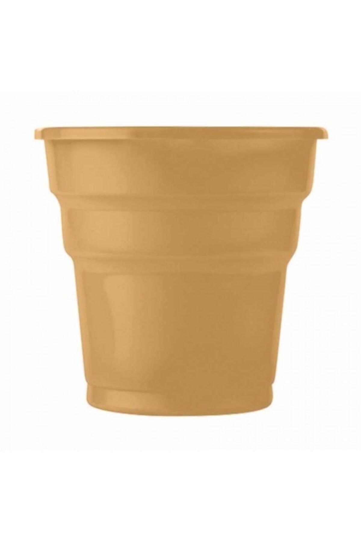 Roll-Up Altın Plastik Meşrubat Bardağı 25li 1