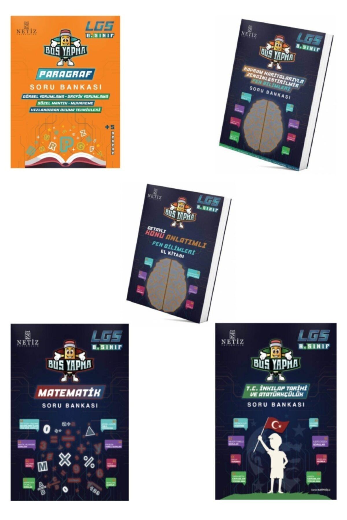 NETİZ YAYINLARI Netiz Lgs 8.sınıf Boş Yapma Soru Bankası Seti + Fen Bilimleri El Kitabı (5 Kitap) 1