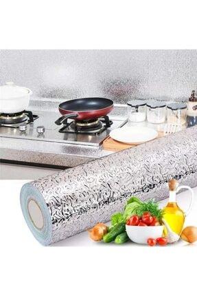 Kyrotech Yapışkanlı Mutfak Tezgah Üstü Folyo Kolay Silinen Gümüş 10 Metre * 40 Cm