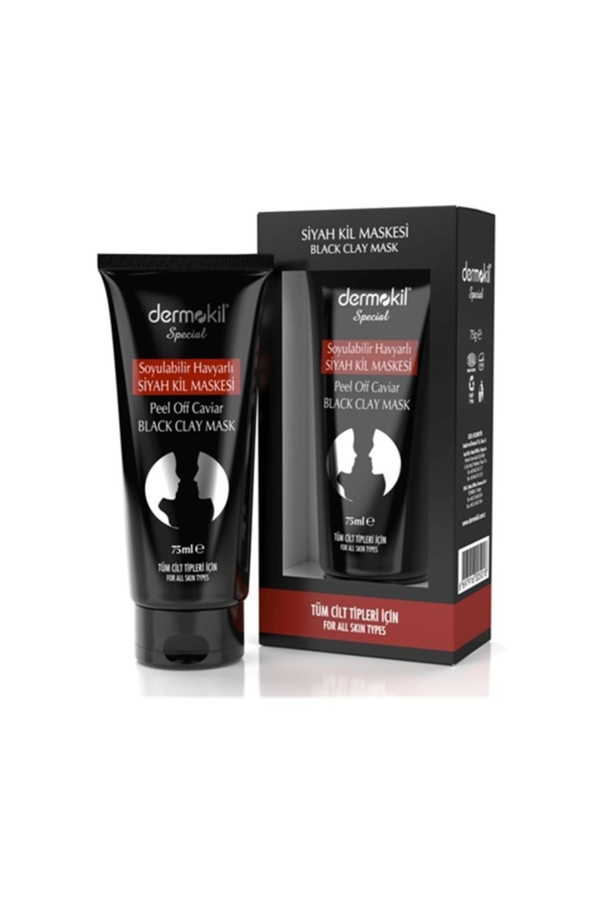 Dermokil Special Soyulabilir Havyarlı Siyah Kil Maskesi Tüm Cilt Tipleri 75 Ml 1