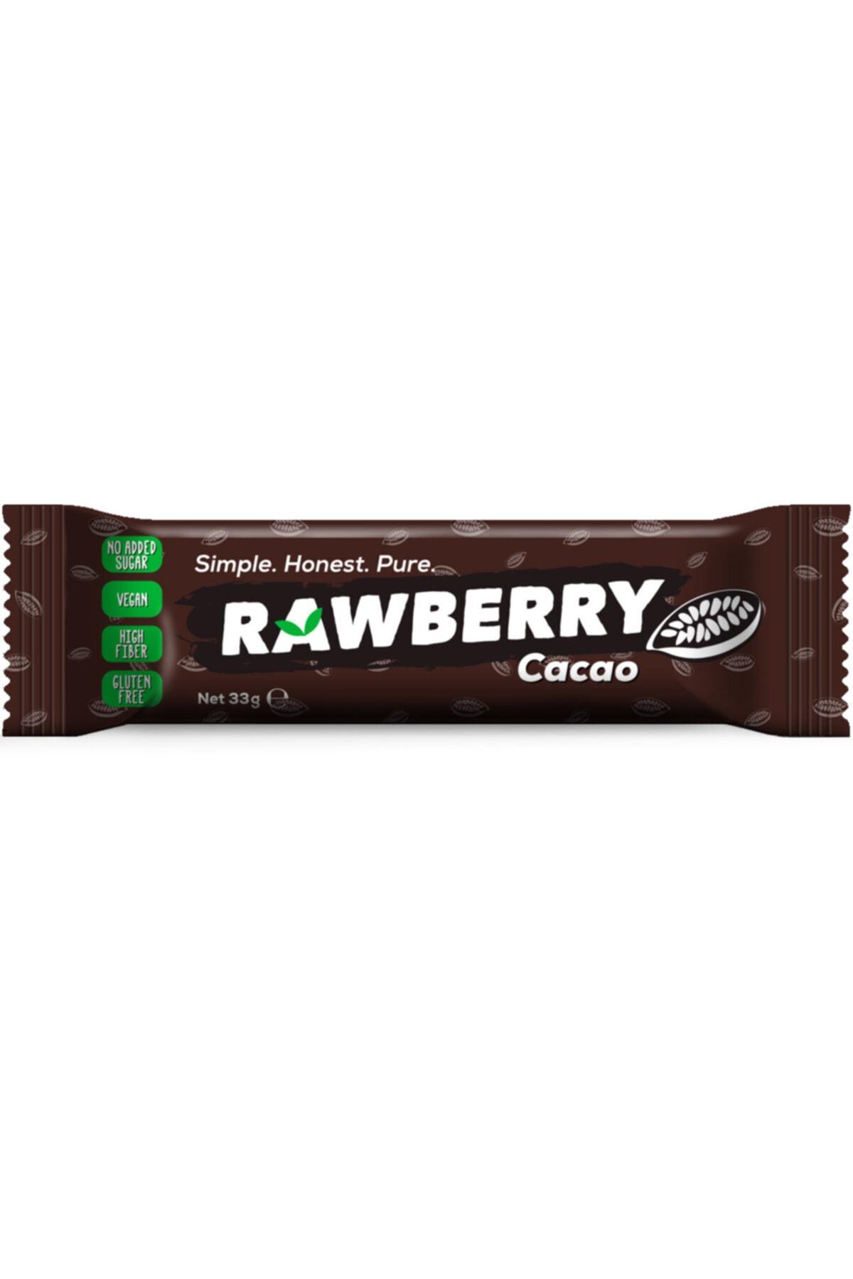 Rawberry Cacao Şeker Ilavesiz Vegan Glutensiz Kuruyemiş Bar (kutuda 15 Adet) 2