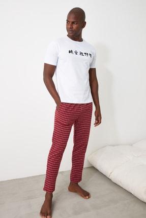 TRENDYOL MAN Baskılı Örme Pijama Takımı THMAW21PT0818