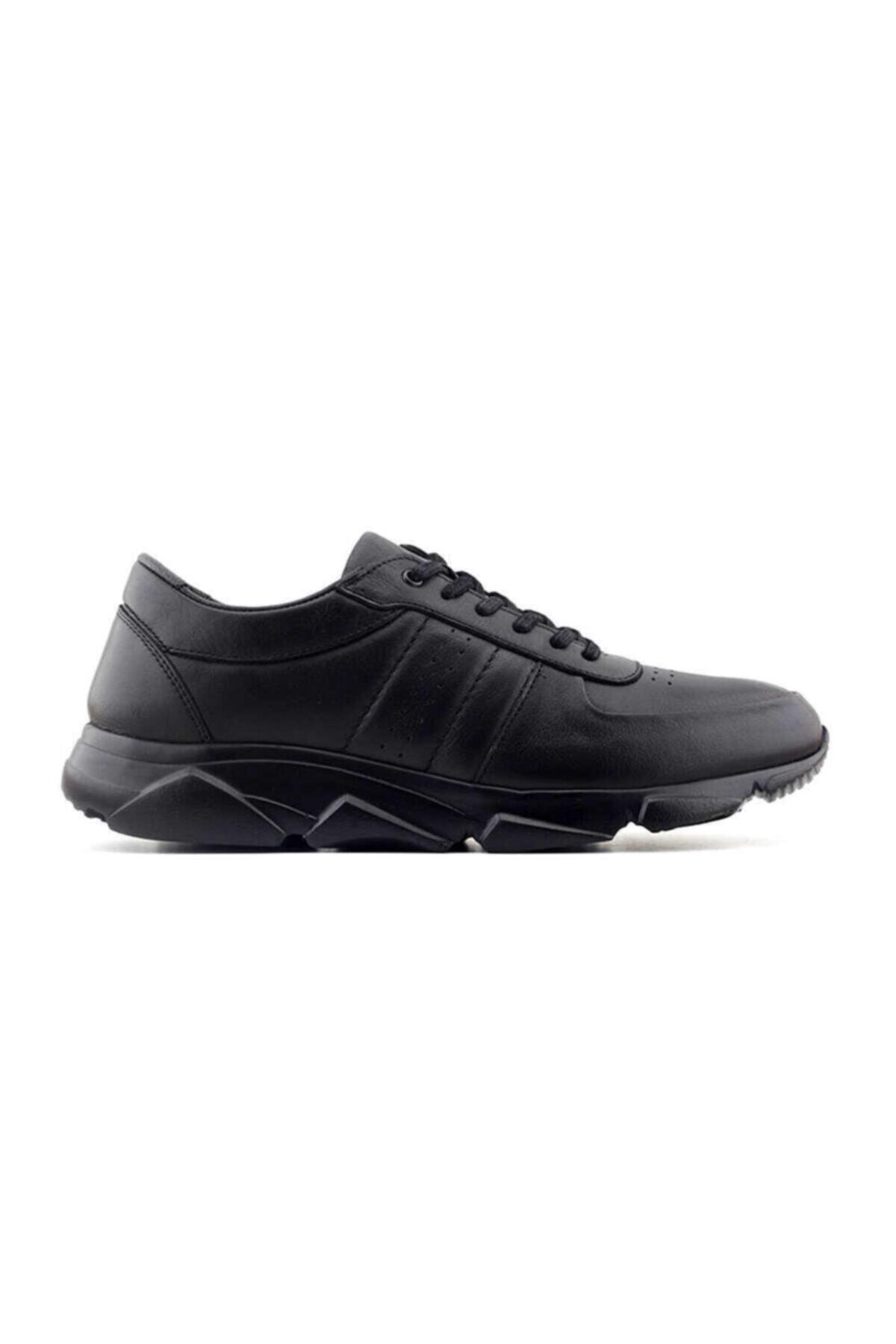 Kayra Erkek Siyah Hakiki Deri Ayakkabı 2