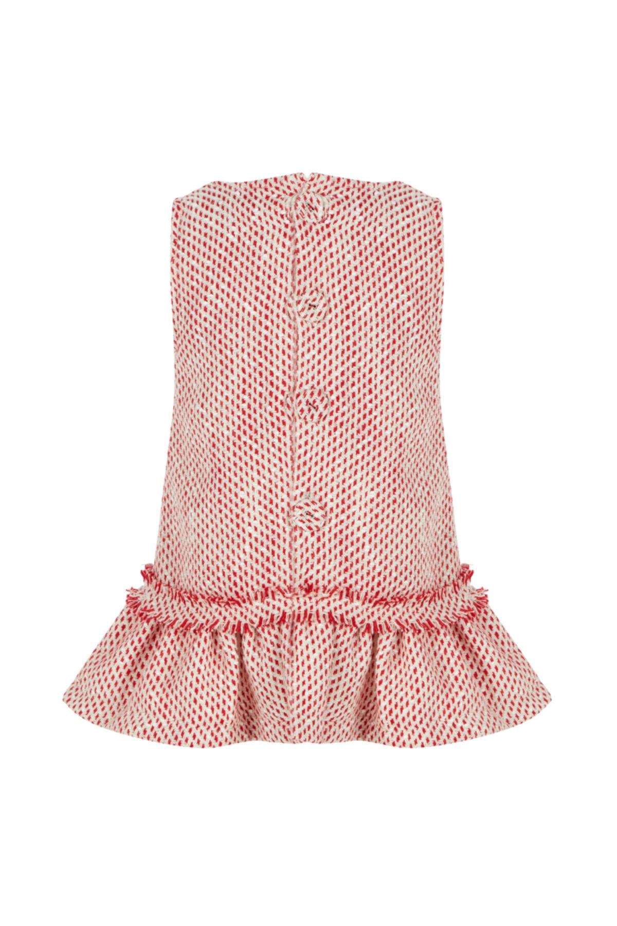 BLEU LAPİN BABY Kız Çocuk Kırmızı Desenli Elbise Lady Lisa 2