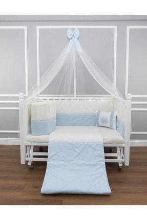 MAYA BABY First Uyku Seti 60x120 Mavi Cibinlikli