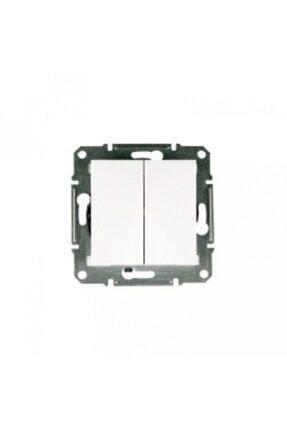 Schneider Electric Asfora Beyaz Çerçevesiz İkili Anahtar Eph0370121
