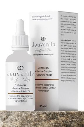 Jeuvenile Caffeine %5 + Peptide Complex + Hyaluronic Acid %1 Göz Altı Torbası Ve Morluk Serumu 30 Ml