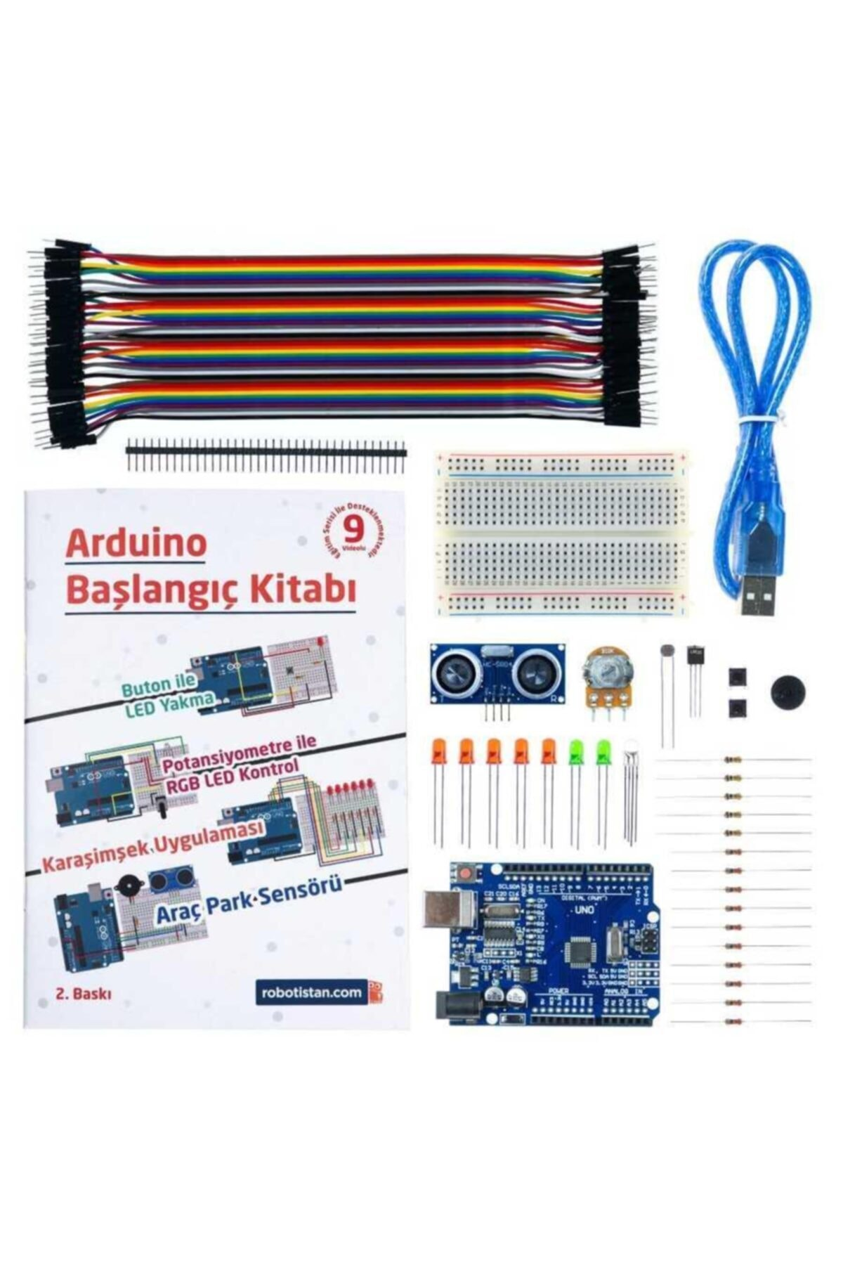 Robotistan Arduino Uno R3 Başlangıç Seti - Starter Kit (klon) Kitaplı Ve Videolu 2