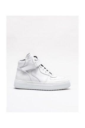 Elle Shoes Beyaz Deri Kadın Spor Bot