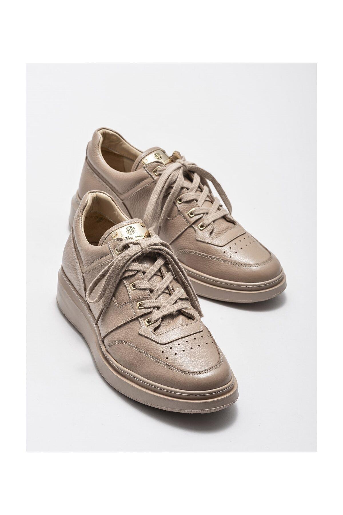 Elle Shoes Bej Deri Erkek Spor Ayakkabı 2