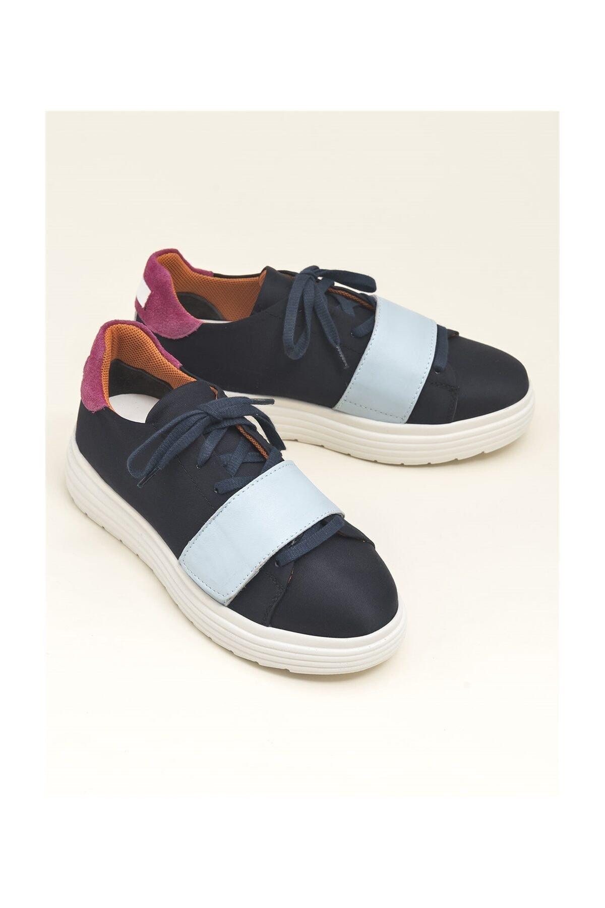 Elle Shoes Multi Lacivert Kadın Spor Ayakkabı LORETEE 1