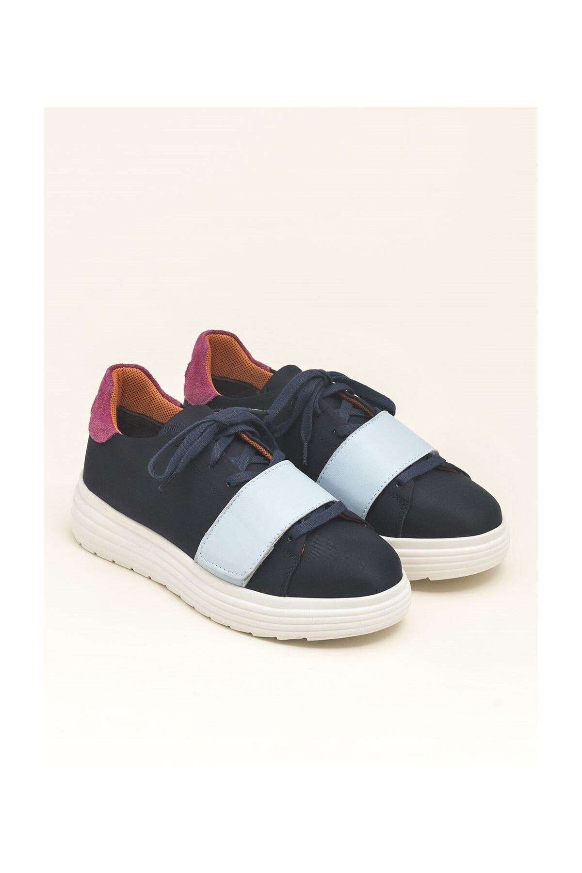 Elle Shoes Multi Lacivert Kadın Spor Ayakkabı LORETEE 2