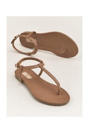 Elle Shoes RADELLA Hakiki Deri Taba Kadın Sandalet 20YLT101119