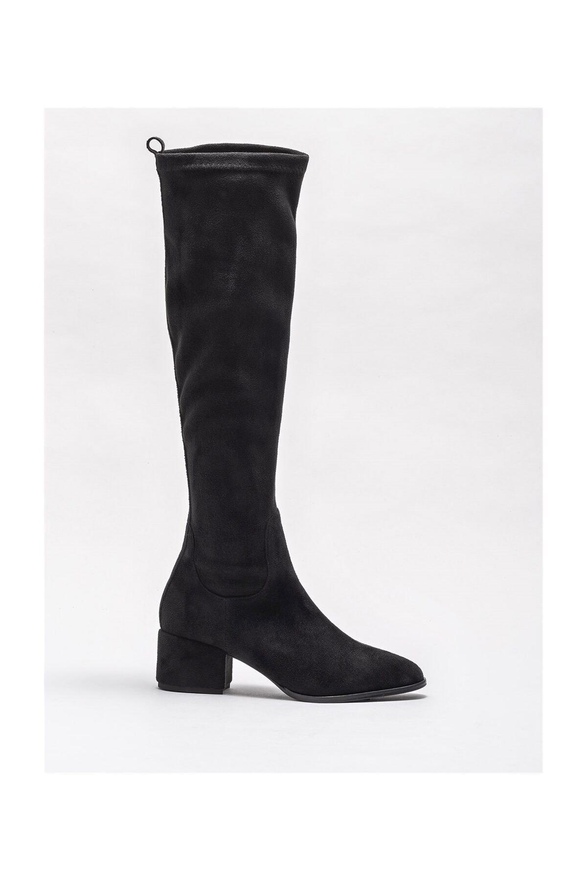 Elle Shoes Kadın Ravendra Sıyah Çizme 20KTO34102 1