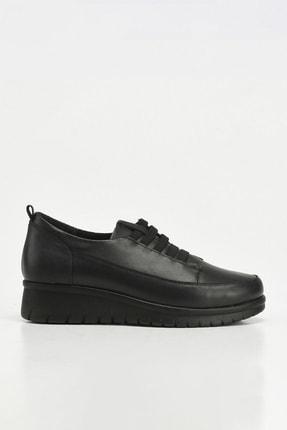 Hotiç Hakiki Deri Siyah Yaya Kadın Günlük Ayakkabı