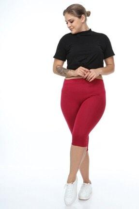 Womenice Kadın Bordo Beli Lastikli Kapri Toparlayıcı Tayt