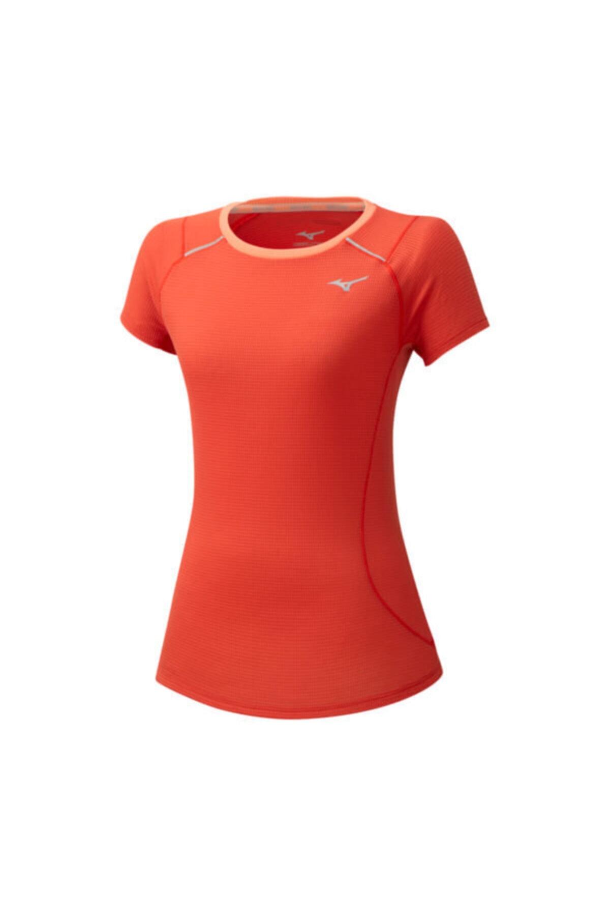 MIZUNO Dry Aeroflow Tee Kadın Turuncu T-shirt 1